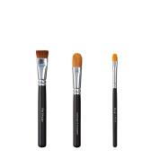 VEGAN LOVE Flat Shader Ultimate Concealer Cover Face Brush Trio