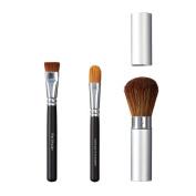 VEGAN LOVE Flat Shader Ultimate Concealer Brush Trio, Take Along Face, Large