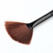 Kwok Brush,1 PC Makeup Fan Goat Hair Blush Face Powder Foundation Cosmetic Brush