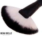 Beau Belle Fan Brush - Highlighter Brush - Highlighting Brush - Highlighting Brush Fan - Professional Fan Brush - Powder Brush - Foundation Brush - Makeup Brushes - Highlighting Brush Makeup