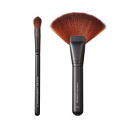 Makeover Vegan Love Pointed Eye Contour and Jumbo Fan Brush