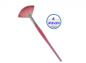 6 Ct. Pink Glycolic Fan Mask Brush for Facial and Peeling Tratment