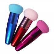 Fheaven 3PC Women Cosmetic Liquid Cream Foundation Concealer Sponge Lollipop Brush