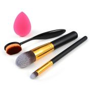 U-beauty® 3pcs Makeup Brush Cosmetics Sponge Makeup Brush Cleaner Foundation Brush Tools with Free Puff