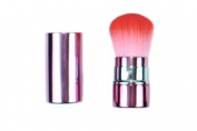 Crown Brush Kabuki Series Retractable Synthetic Kabuki Brush, Pink