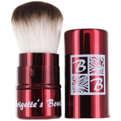 Brigette's Boutique Signature Retractable Kabuki Brush in Crimson Red
