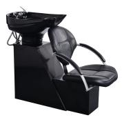 Giantex Salon Backwash Shampoo Bowl Sink Barber Chair Hair Spa Equipment Station Black