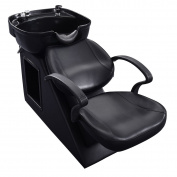 Giantex Black Salon Backwash Shampoo Bowl Sink Barber Chair Hair Spa Equipment Station