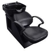 Giantex Black Salon Backwash Shampoo Bowl Sink Barber Chair Hair Spa Equipment Station