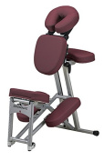 Stronglite Ergo Pro II - Version 2 Portable Massage Chair Package in Burgundy w 3 D.V.D Medical Massage Video Series