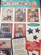 Stars an Stripes Decorative Scrapbook Page Kit