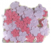 Pink Assorted Glitter Paper Flowers Set - 120pc