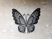 UMR-Design ST-083 Butterfly Airbrushstencil Step by Step Size S 5cm x 5cm