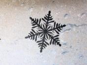 UMR-Design ST-021 Snowflake Airbrushstencil Step by Step Size S 5cm x 5cm