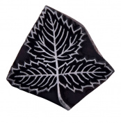 Leaf Indian Wooden Textile Stamps Handcarved Printing Pottery Scrapbook Art Block Stamp