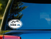 T1154 HIKE ALABAMA Decal - 10cm x 15cm - Easy to apply - Instructions Included - Premium 6 Year Vinyl