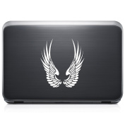 Tribal Art Angel Wings REMOVABLE Vinyl Decal Sticker For Laptop Tablet Helmet Windows Wall Decor Car Truck Motorcycle - Size (05 Inch / 13 Cm Tall) - Colour