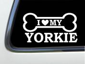 ThatLilCabin - I LOVE MY YORKIE 20cm AS649 car sticker decal
