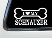 ThatLilCabin - I LOVE MY SCHNAUZER 20cm AS632 car sticker decal