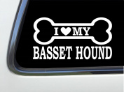 ThatLilCabin - I LOVE MY BASSET HOUND 20cm AS583 car sticker decal