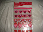 Valentine's Heart Shape Stickers 41 pieces