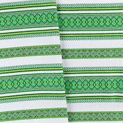"EASTER GIFT IDEA!!! Decorative fabric with Ukrainian ornament Easter Tablecloth plahta ethnic White Green Yellow 300x150 cm / 118""x59"" VALENTINE'S SALE"