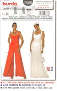 Burda Sewing Pattern 7688 - Misses' Wedding or Evening Dress, Fitted, Size