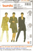 Burda Sewing Pattern 8300 - Misses' Jacket & Vest, Semi-fitted Jacket & Fitted Vest, Size