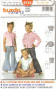 Burda Start 3 Sewing Pattern 9744 - Girls' Blouse, Fitted, Size