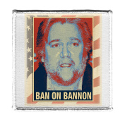 Ban on Bannon - Iron on 10cm x 10cm Embroidered Edge Patch Applique