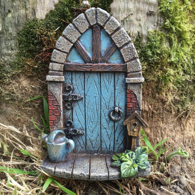 Miniature pixie elf fairy door tree garden home decor for Mini fairy door