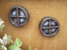Pair of Round Stone Fairy Windows Perfect to accompany your fairy door or add to your fairy garden