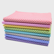 iNee Polka Dot Fat Quarters Quilting Fabric Bundles, Sewing Fabric for Quilting Crafting,46cm x 60cm