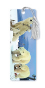 Dimension 9 3D Lenticular Bookmark with Tassel, Polar Bear Family in Snow
