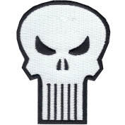 Official Marvel Comics The Punisher Retro Skull Logo Iron on Applique Patch
