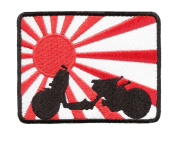 Rising Sun Slammed Ruckus Shirt Patch 9cm - Ruckus Patches - Team Patches - Club Patches - Scooter Patches