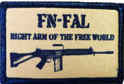 FN Fal Right Arm of the Free World Morale Patch. Perfect for your Tactical Military Army Gear, Backpack, Operator Baseball Cap, Plate Carrier or Vest. 5.1cm x 7.6cm Hook Patch. Made in the USA