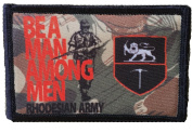 Be A Man Among Men FN Fal Soldier of Fortune Morale Patch. Perfect for your Tactical Military Army Gear, Backpack, Operator Baseball Cap, Plate Carrier or Vest. 5.1cm x 7.6cm Hook Patch. Made in the USA