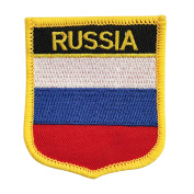 Russian National Flag Emblem Badge Crest Embroidered Morale Patch