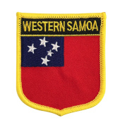 Samoa National Flag Emblem Patch Iron-On for rugby island nations and the World Cup