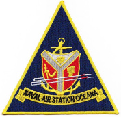 NAVAL AIR STATION NAS OCEANA TRIANGLE PATCH - colour - Veteran Owned Business