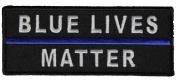 BLUE LIVES MATTER PATCH - Colour - Veteran Owned Business.