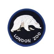 """UK Travel """"London Zoo"""" Polar Bear Patch Regent's Park Souvenir Iron-On Applique"""