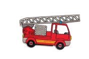 Fire Engine Truck DIY Embroidered Sew Iron on Patch