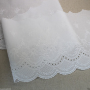1yard Broderie Anglaise Cotton Eyelet lace trim 21cm YH1323