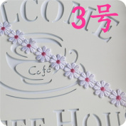 OZXCHIXU (TM) 2 metres Guipure Lace Ribbon Trim Sew On Flower for Embroidery , Craft Scrapbooking DIY Gift Packing Decoration