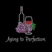 Ageing to Perfection Rhinestone/stud Iron on T Shirt Transfer