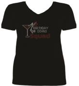 Rhinestone Birthday Divas Squad T-Shirt SV RG4N