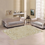 JC-Dress Area Rug Cover Round Brick Modern Carpet Cover 2.1mx1.5m