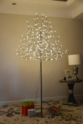 UPHA 1.8m 208 LED Xmas Cherry Blossom Tree Light With Flexible Branches,Outdoor and Indoor, Warm White Light